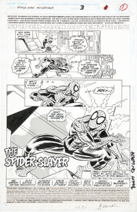 Alex Saviuk and Don Hudson Spider-Man Adventures #3 Title page 1 Original Art (Marvel, 1995)