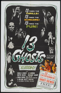 """13 Ghosts (Columbia, 1960). One Sheet (27"""" X 41""""). Horror"""
