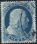 Stamps, 1c Blue, Type lll (21),...