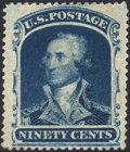 Stamps, 90c Blue (39),...
