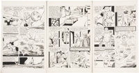 """Steve Ditko Scary Tales #12 """"Drowned Girl"""" pages 2-10 Original Art (Charlton, 1978).... (Total: 9 Items)"""