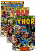Modern Age (1980-Present):Superhero, Thor Short Box Group (Marvel, 1979-89) Condition: Average VF/NM....