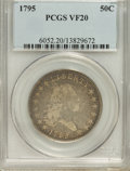 Early Half Dollars: , 1795 50C 2 Leaves VF20 PCGS. PCGS Population (113/356). NGC Census:(57/386). Mintage: 299,680. Numismedia Wsl. Price for N...