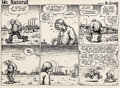 Original Comic Art:Panel Pages, Robert Crumb Mr. Natural #3 Page 3 Original Art (Kitchen Sink,1977).... (Total: 2 Items)