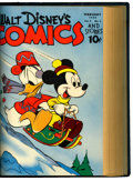 Golden Age (1938-1955):Cartoon Character, Walt Disney's Comics and Stories #37-48 Bound Volume IV (Dell,1943-44)....