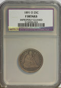 Seated Quarters: , 1891-O 25C --Improperly Cleaned--NCS. Fine Details. NGC Census:(1/26). PCGS Population (2/38). Mintage: 68,000. Numismedia ...