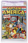 Golden Age (1938-1955):Superhero, Captain America Comics #1 (Timely, 1941) CGC Apparent VF 8.0 Slight (P) Off-white pages....