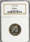 Proof Barber Quarters, 1904 25C PR66 ★ NGC....