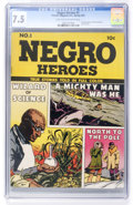 Golden Age (1938-1955):Non-Fiction, Negro Heroes #1 (Parents' Magazine Institute, 1947) CGC VF- 7.5Light tan to off-white pages....