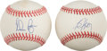 Autographs:Baseballs, Bo Jackson and Nolan Ryan Single Signed Baseballs. ... (Total: 2items)