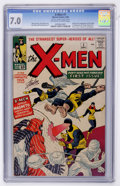 Silver Age (1956-1969):Superhero, X-Men #1 (Marvel, 1963) CGC FN/VF 7.0 Off-white to white pages....