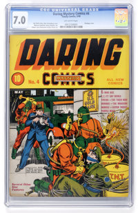 Daring Mystery Comics #4 (Timely, 1940) CGC FN/VF 7.0 Off-white pages