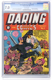 Daring Mystery Comics #3 (Timely, 1940) CGC FN/VF 7.0 Off-white pages