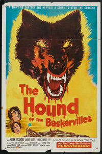 "The Hound of the Baskervilles (United Artists, 1959). One Sheet (27"" X 41""). Mystery"