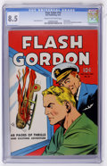 Golden Age (1938-1955):Science Fiction, Four Color #10 Flash Gordon (Dell, 1942) CGC VF+ 8.5 Cream tooff-white pages....