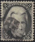 Stamps, 2c Black, Z. Grill (85B),...
