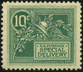 Stamps, 1908, 10c Green (E7),...