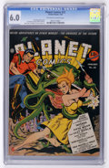 Golden Age (1938-1955):Science Fiction, Planet Comics #22 (Fiction House, 1943) CGC FN 6.0 Off-white towhite pages....