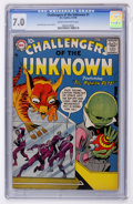 Silver Age (1956-1969):Science Fiction, Challengers of the Unknown #1 (DC, 1958) CGC FN/VF 7.0 Cream tooff-white pages....