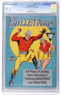 Bulletman #1 (Fawcett, 1941) CGC NM- 9.2 Off-white to white pages