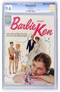 Barbie and Ken #1 (Dell, 1962) CGC NM+ 9.6 Off-white pages