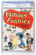 Platinum Age (1897-1937):Miscellaneous, Famous Funnies: A Carnival of Comics #nn with Original Mailing Envelope (Eastern Color, 1933) CGC VF/NM 9.0 Off-white pages.... (Total: 2 Items)