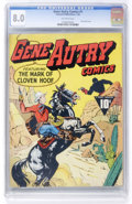 Golden Age (1938-1955):Western, Gene Autry Comics #1 (Fawcett, 1942) CGC VF 8.0 Off-white pages....