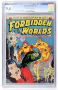 Golden Age (1938-1955):Science Fiction, Forbidden Worlds #2 (ACG, 1951) CGC VF/NM 9.0 Off-white to whitepages....