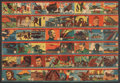 "Non-Sport Cards:Sets, 1941 R12 ""America At War"" Complete Set (48) - In Uncut Strips...."