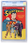 Golden Age (1938-1955):Superhero, Superman #29 (DC, 1944) CGC VF/NM 9.0 Off-white to white pages....