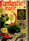 Silver Age (1956-1969):Superhero, Fantastic Four #1-9 Bound Volume Signed By Kirby and Lee (Marvel,1961-62)....