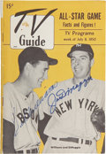 Autographs:Others, 1950 TV Guide Signed by Ted Williams and Joe DiMaggio. ...