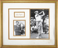 Golf Collectibles:Autographs, Ben Hogan Signed Cut Display. ...
