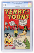 Golden Age (1938-1955):Funny Animal, Terry-Toons Comics #38 (Timely, 1945) CGC FN/VF 7.0 Off-whitepages....