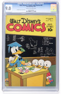 Golden Age (1938-1955):Cartoon Character, Walt Disney's Comics and Stories #61 (Dell, 1945) CGC VF/NM 9.0Cream to off-white pages....