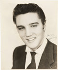 Music Memorabilia:Autographs and Signed Items, Elvis Presley Signed Photo....