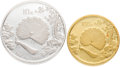 China, China: People's Republic 10 &100 Yuan silver and gold Proof Set 1993,... (Total: 2 coins)