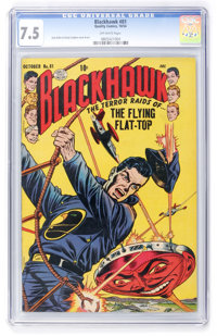 Blackhawk #81 (Quality, 1954) CGC VF- 7.5 Off-white pages