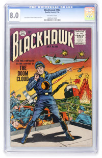 Blackhawk #102 (Quality, 1956) CGC VF 8.0 Off-white pages