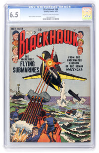 Blackhawk #64 (Quality, 1953) CGC FN+ 6.5 Cream to off-white pages