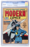Golden Age (1938-1955):War, Modern Comics #60 (Quality, 1947) CGC VG/FN 5.0 Off-white to whitepages....