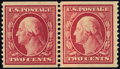 Stamps, 2c Carmine, Horizontal Coil (388),...