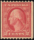 Stamps, 2c Red, Type I, Rotary, Vertical Coil (449),...