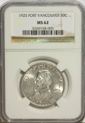 Commemorative Silver: , 1925 50C Vancouver MS62 NGC. NGC Census: (83/1899). PCGS Population(198/2586). Mintage: 14,994. Numismedia Wsl. Price for ...