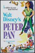 "Movie Posters:Animated, Peter Pan (Buena Vista, R-1976). One Sheet (27"" X 41""). Animated....."