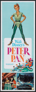 "Movie Posters:Animated, Peter Pan (Buena Vista, R-1969). Insert (14"" X 36""). Animated.. ..."