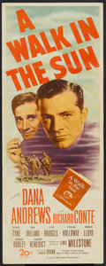 "Movie Posters:War, A Walk in the Sun (20th Century Fox, 1946). Insert (14"" X 36"").War.. ..."