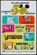 "Movie Posters:Animated, Walt Disney Productions 50th Anniversary (Buena Vista, 1972). OneSheet (27"" X 41""). Animated.. ..."