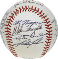 Autographs:Baseballs, 1985 Boston Red Sox Team Signed Baseball. Twenty-two signaturesfrom the 1985 Boston Red Sox appear on the surface of the c...
