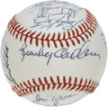 Autographs:Baseballs, 1985 Detroit Tigers Team Signed Baseball. Rebounding from their1984 World Series triumph, the Detroit Tigers looked to rep...